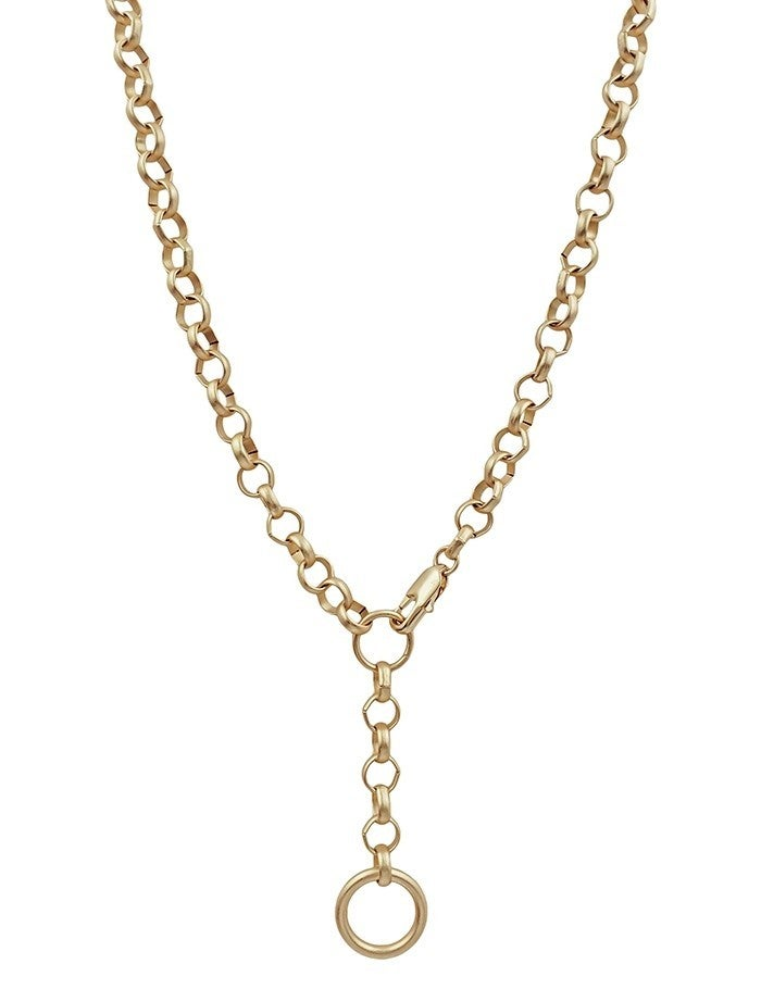 Chain Necklace with Circle Drop