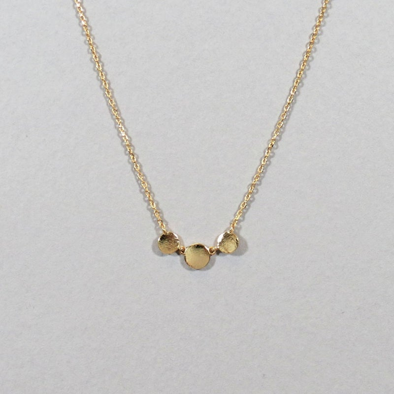 Triple Circle Dainty Necklace