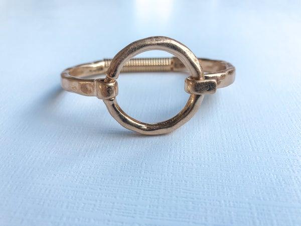 Gold Circle Bracelet