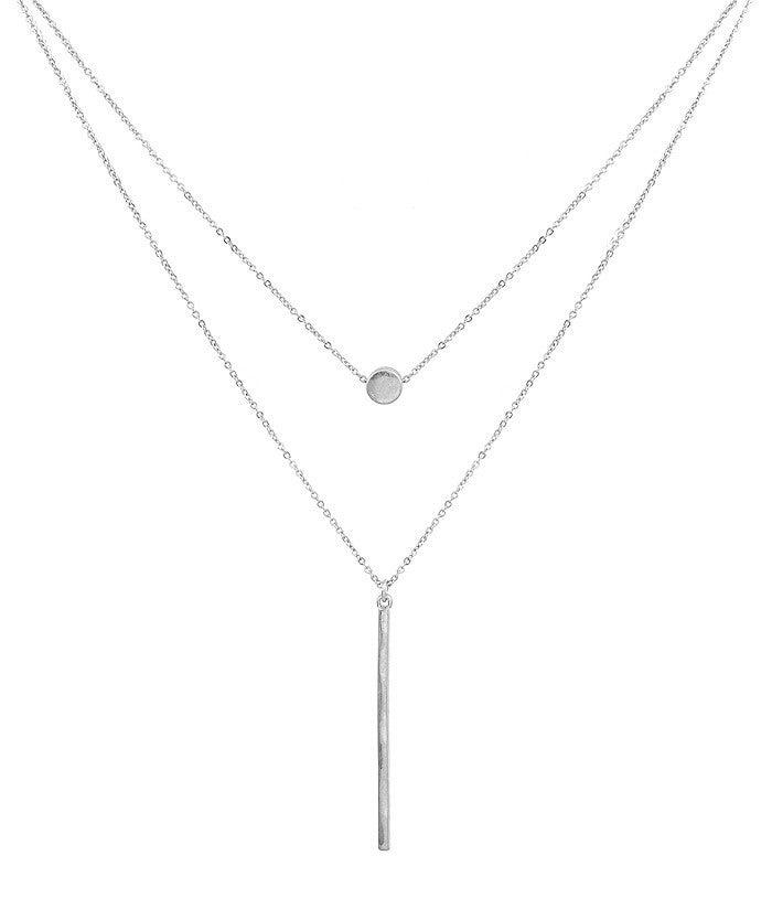 Layered Circle/Bar Necklace