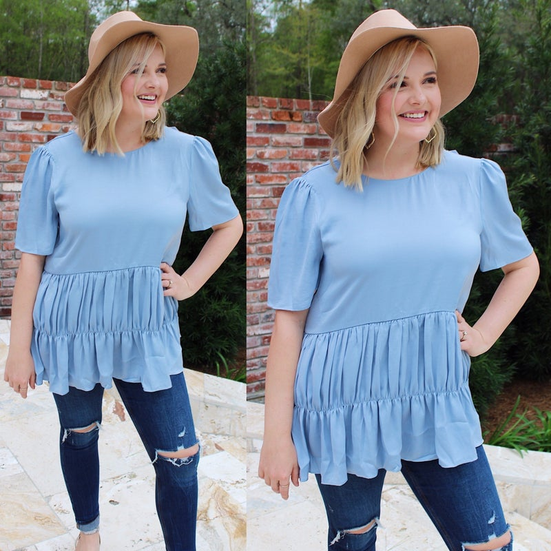 Blue for You Top *FINAL SALE*