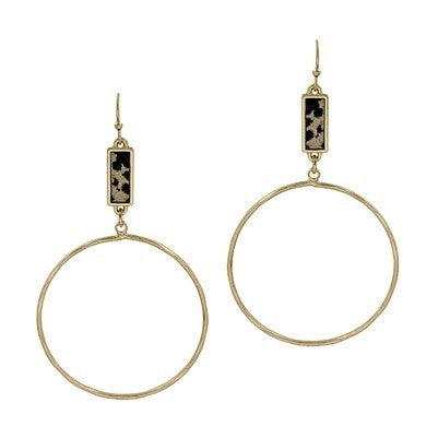 Spotted Rectangle Hoops