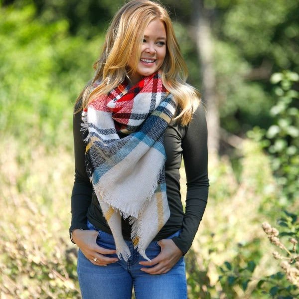 Funky Monkey Spiced Berry Blanket Scarf