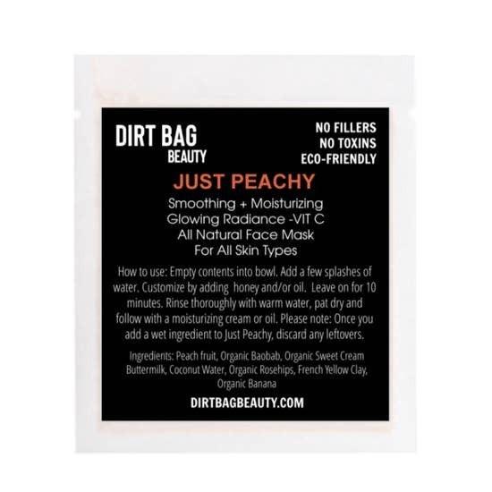 "Dirt Bag Beauty ""Just Peachy"" All Natural Facial Mask"