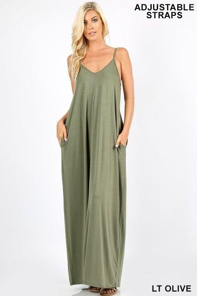V- Neck Cami Maxi Dress