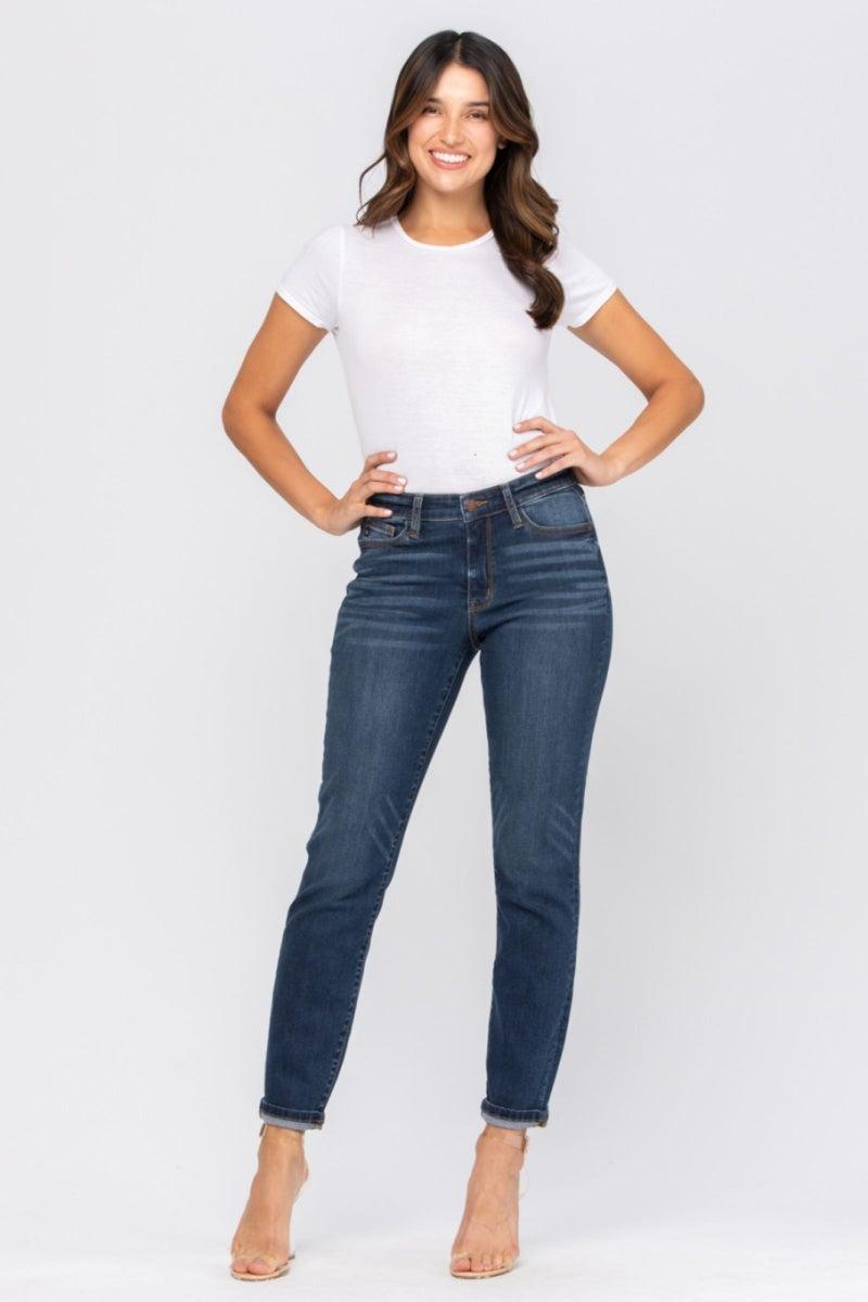 Judy Blue Non Distressed Boyfriend Jeans