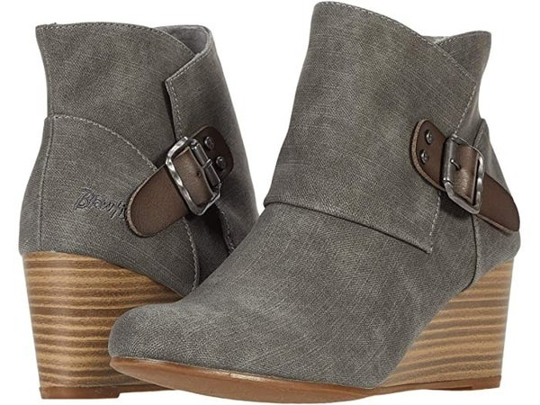 Blowfish Grey Denim Baldwin Bootie