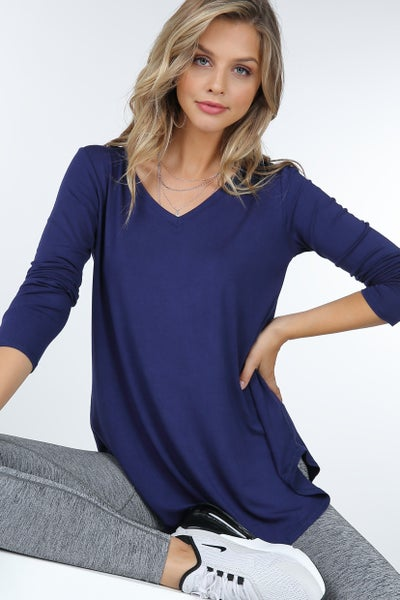 The Perfect Long Sleeve V Neck Top