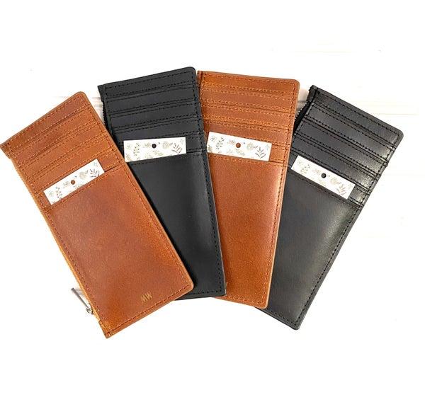Leather Slim Card Organizer Wallet Insert