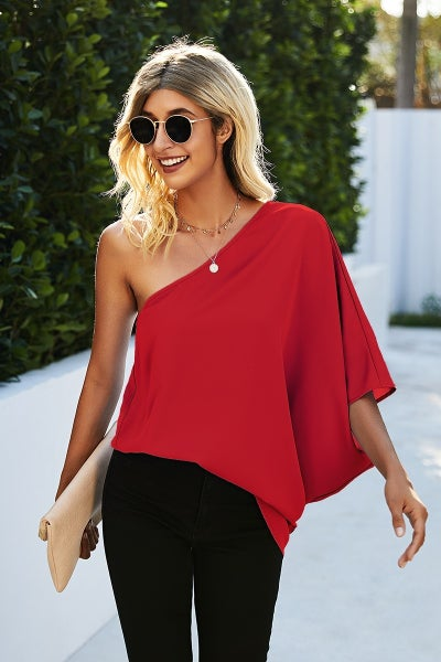 The Hayden Top (red, blue)