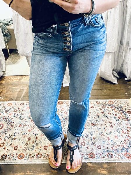KanCan High-Rise Straight Jean