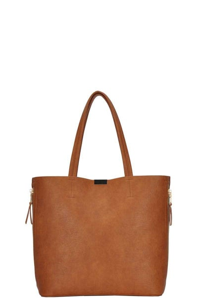 The Charlie Tote (olive, tan)
