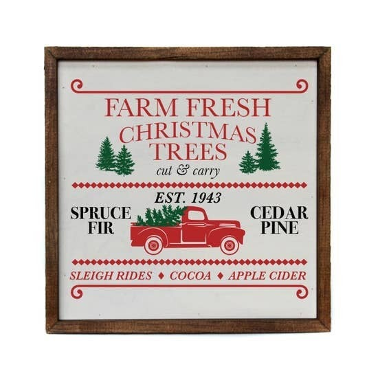 Christmas Truck Wall Sign