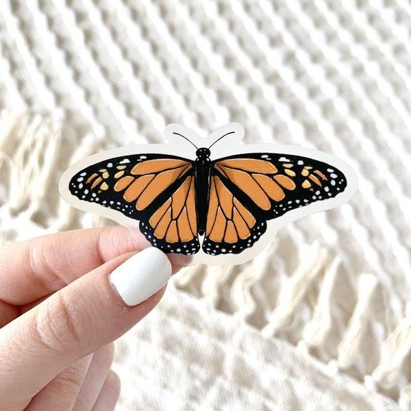 Clear Monarch Butterfly Sticker