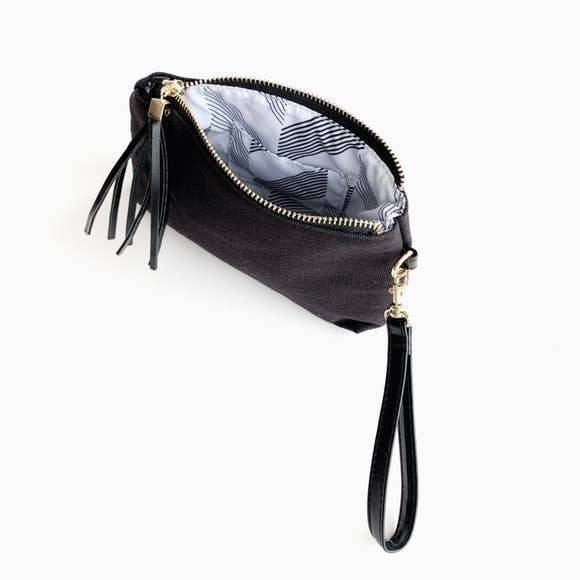 Funky Monkey Bailey Black Canvas Small Pouch