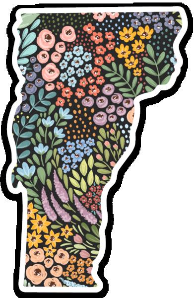 Vermont State Floral Sticker