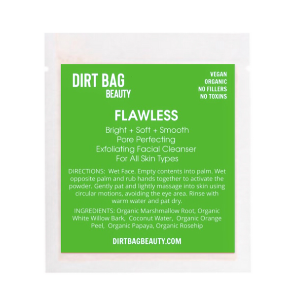 """Dirt Bag Beauty """"Flawless"""" Exfoliating Facial Cleanser"""