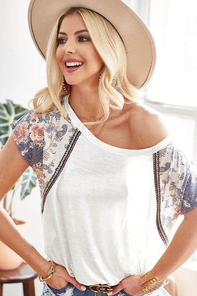 The Everly Top (ivory, charcoal)