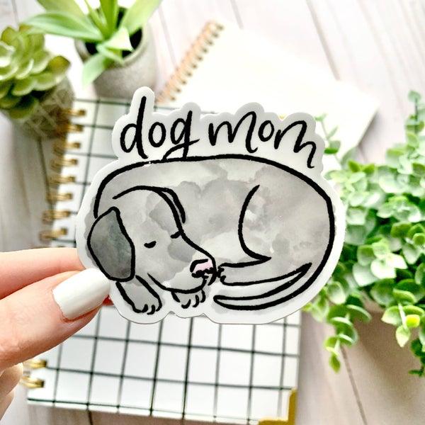 Watercolor Dog Mom Sticker