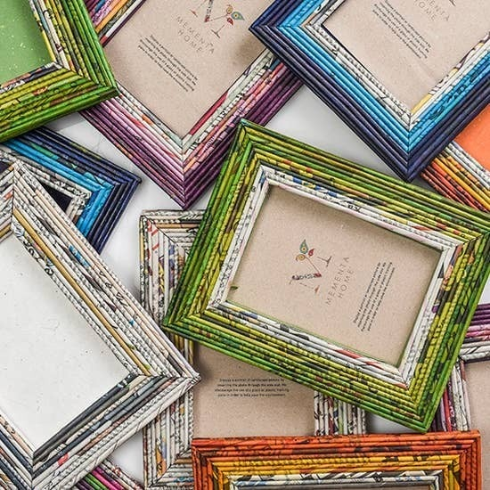 Newspaper Art Picture Frame (assorted colors)