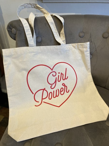 """""""Girl Power"""" Canvas Tote Bag"""