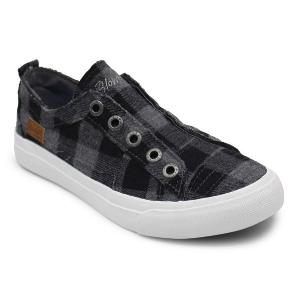 Blowfish Mini Grey/Black Buffalo Check Play Sneakers