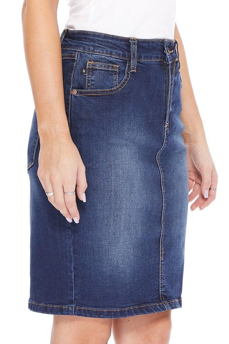 Judy Blue Back Slit  Pencil Skirt