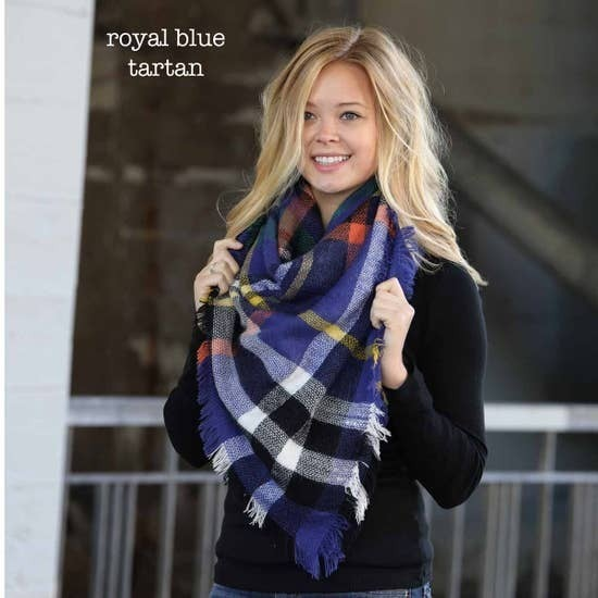 Funky Monkey Royal Blue Blanket Scarf