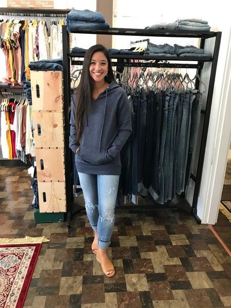 Navy or Grey Hooded Sweatshirt