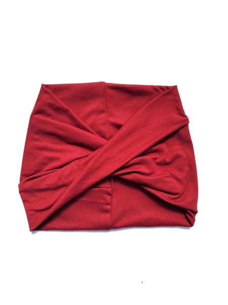 Rust Red Wide Headband