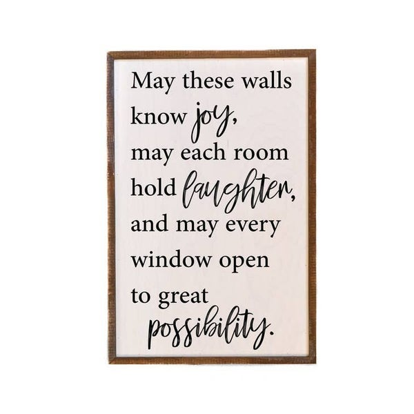 May These Walls Know Joy, May Each Room Hold Laughter Wall Art