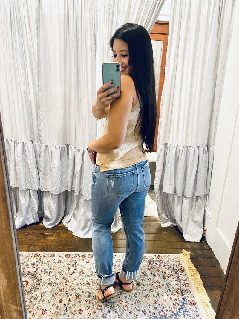 Judy Blue High Waist Button fly Boyfriend Jeans