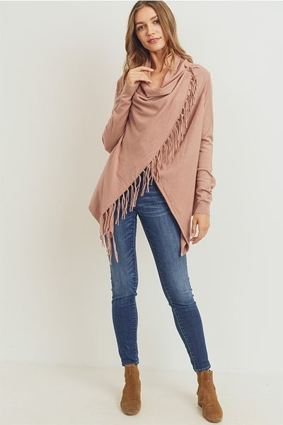 The Elena 2 Poncho ( rose, brick)