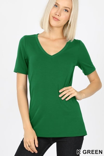The Paige Top (black, green)