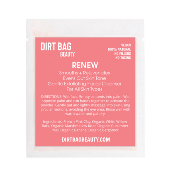 "Dirt Bag Beauty ""Renew"" Exfoliating Facial Cleanser"