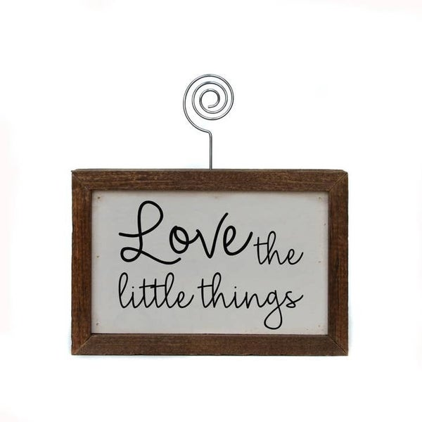 Love the Little Things- Table Top Picture Frame Block