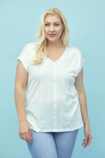 The Lena Top (mint, off white)