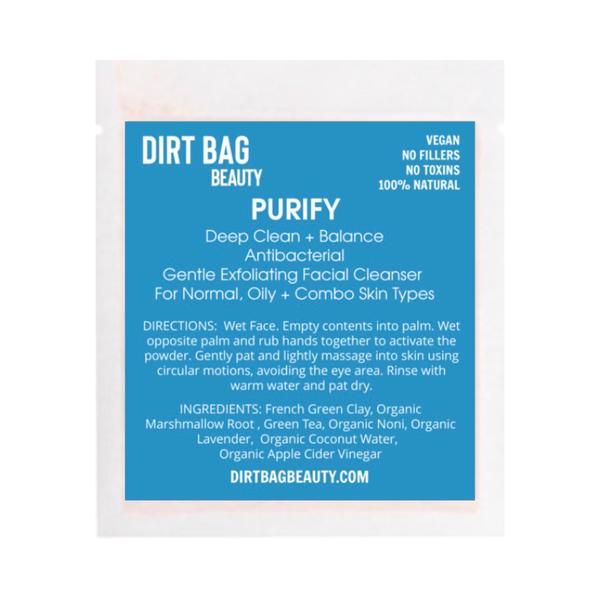 "Dirt Bag Beauty ""Purify"" Exfoliating Facial Cleanser"