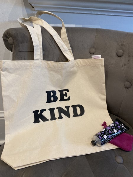 """""""Be Kind"""" Canvas Tote Bag"""