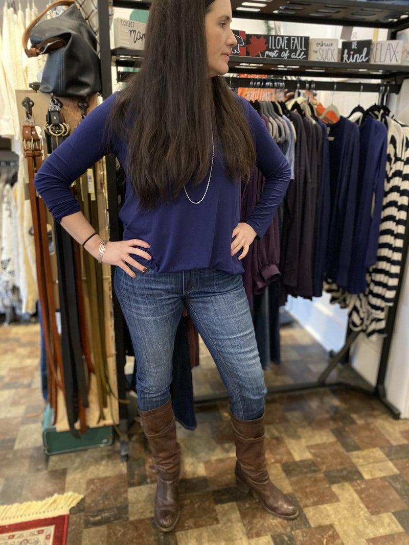 KanCan Mid Rise Dark Wash Super Skinny Jean