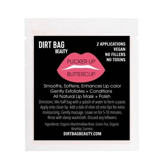 "Dirt Bag Beauty ""Pucker Up Buttercup"" All Natural Vegan Lip Mask + Polish"