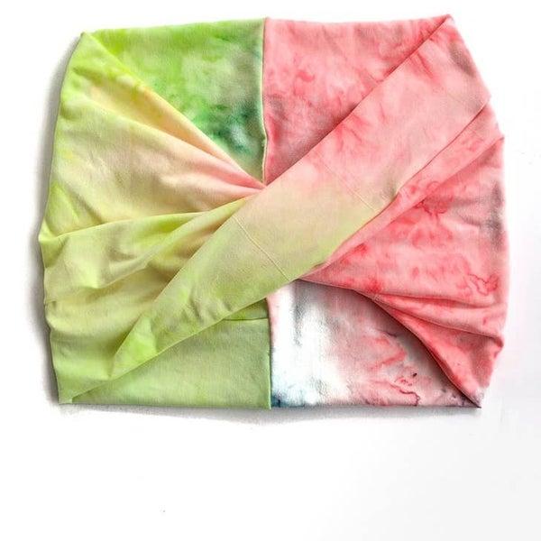 Neon Tie-Dye Wide Headband