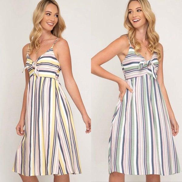 Multi Stripe Cami Dress