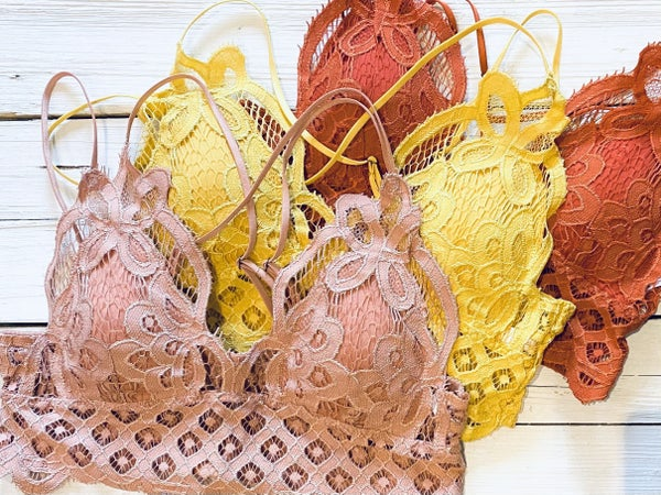 Lace Bralette (multiple colors)- NEW colors added