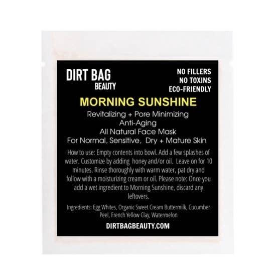 "Dirt Bag Beauty "" Morning Sunshine"" All Natural Facial Mask"
