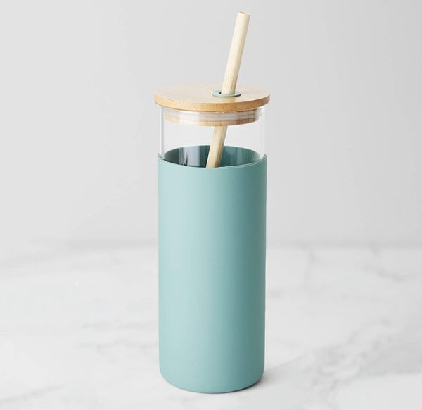 Glass and Bamboo Water Bottle