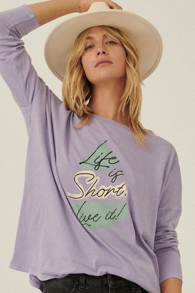 Life is Short Vintage Long Sleeve