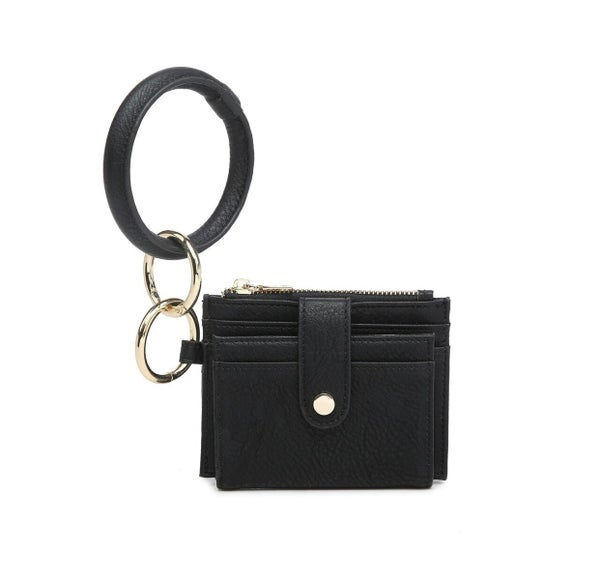 Sammie Mini Snap Wallet/Card Holder w/ Ring