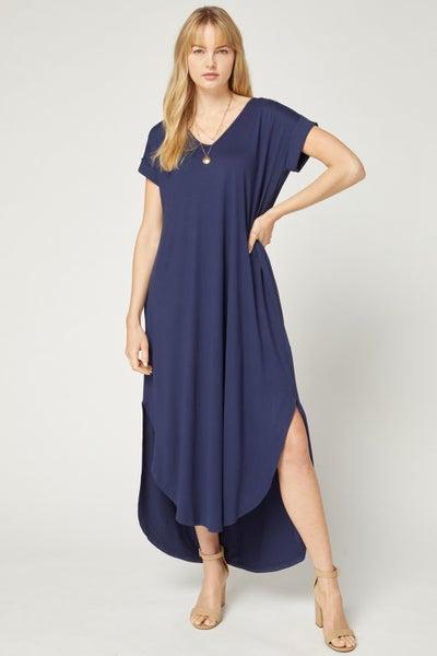 Navy T-Shirt Maxi Dress