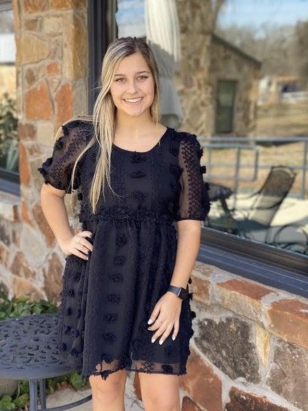 Black PomPom Dress